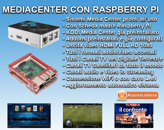 Media Canter Raspberry Pi con Kodi Media Center