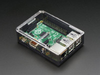 MEDIA CENTER CON RASPBERRY PI 3 E KODI MEDIACENTER - CASE TRASPARENTE FUME'