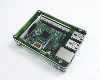 MEDIA CENTER CON RASPBERRY PI 3 E KODI MEDIACENTER - CASE TRASPARENTE E VERDE